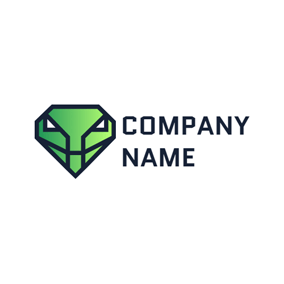 Diamond Shape and Cobra Head logo design