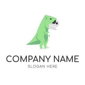 Dinosaur Fossil and Raptor logo design
