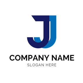 ... Double Blue Letter J logo design