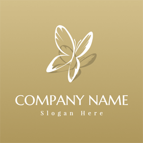 Double Flying Butterfly logo design