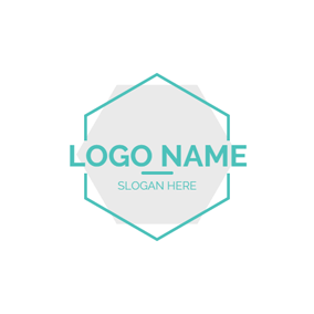 Double Hexagon and Simple Name logo design