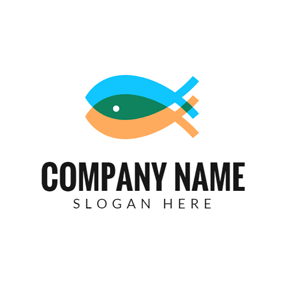 Double Overlapping Fish logo design