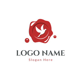 Dove Image and Red Seal logo design