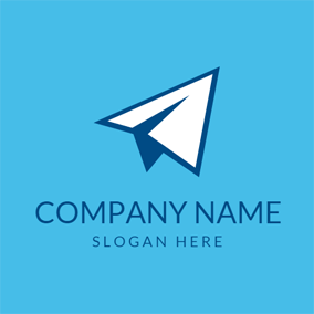 Dream Paper Airplane logo design