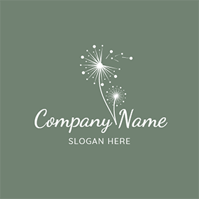 Dreamlike and Simple Dandelion logo design