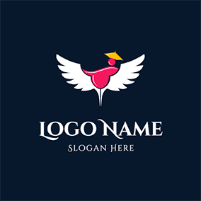 Drink and Wing logo design