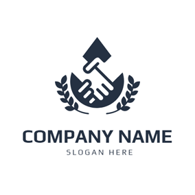Drop Shape and Handshake logo design