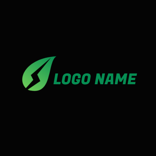 Drop Shape and Lightning Power logo design