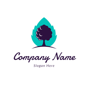 Drop Shape and Mulberry logo design