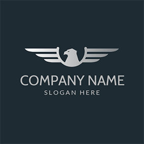 Eagle Symbol and Wing Icon logo design