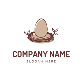 Egg and Bird Nest logo design