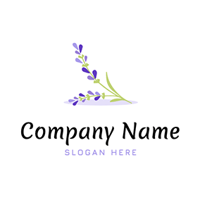 Elegant Flower With Lavender logo design