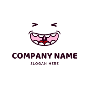 Emotion and Smile Mouth logo design