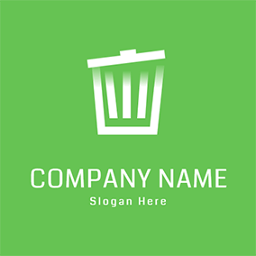 Empty Trash Can logo design