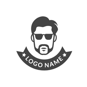 Encircled Fashion Hipster Icon logo design