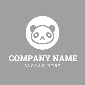Encircled Panda Face logo design