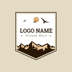 Endless Steep Mountain logo design