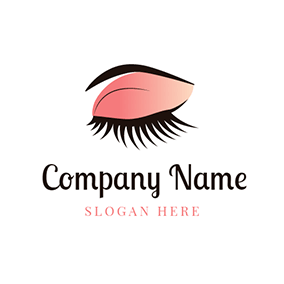 Eye Shadow and Eyelash logo design