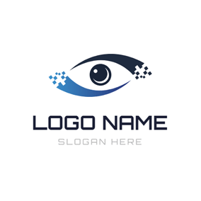 Eye Shape and Camera Lens logo design