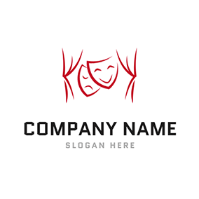 Facial Makeup Forestage Drama logo design