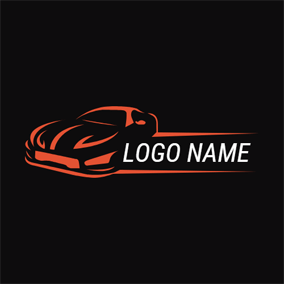 Fascinating Orange Car logo design