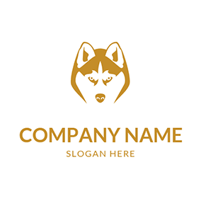 Fierce Husky Face logo design