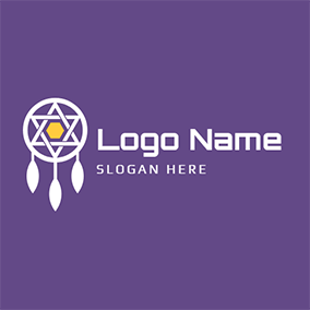 Five Pointed Star and Dreamcatcher logo design