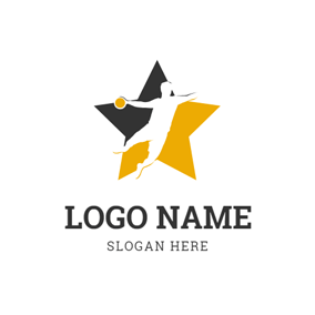 Five Pointed Star and Sportsman logo design