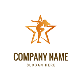 Five Pointed Star and Zumba logo design