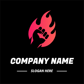 Flaring Fist logo design