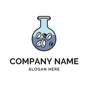 Flask and Chemical Medicine logo design