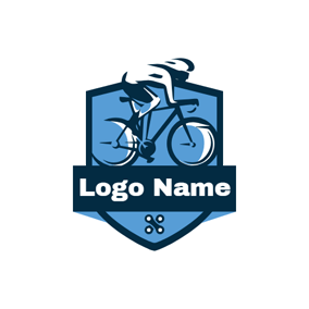 Flat Badge and Bike logo design