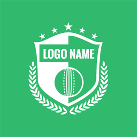 Flat Badge and Cricket logo design