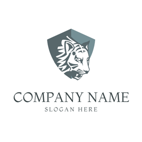 Flat Badge and Tiger logo design