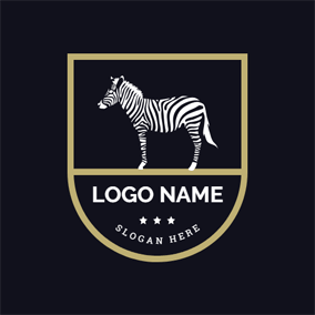 Flat Badge and Zebra logo design