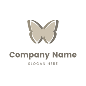 Flat Butterfly Shape logo design