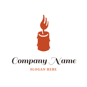 Flat Candle Icon logo design