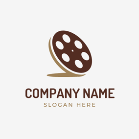 Flat Cookies and Film logo design