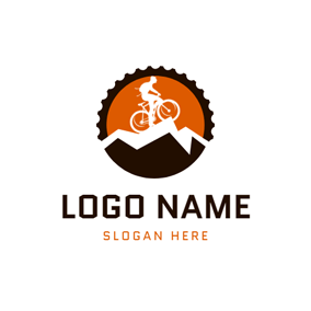Flat Gear and Mountain Bike logo design