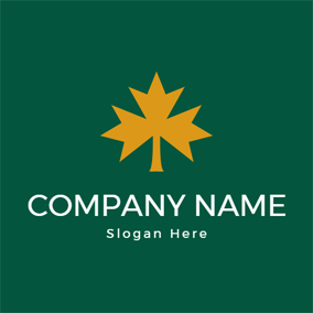 Flat Nature Maple Leaf logo design