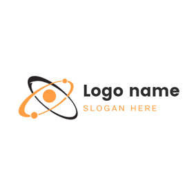 Flat Orbital and Atom logo design