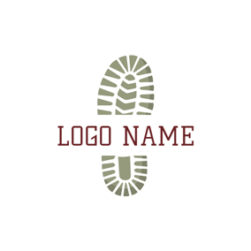 Flat Shoe Sole Icon logo design