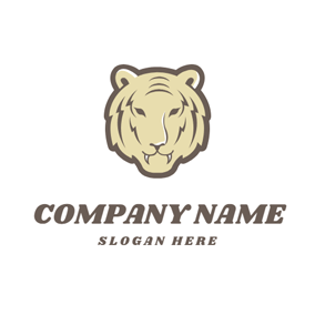 Flat Tiger Head logo design