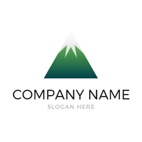 Flat Triangle Mountain Icon logo design