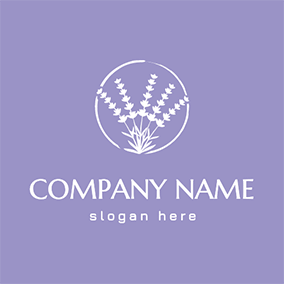 Flower In Circle Lavender logo design