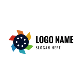Flower Shape and Photography logo design