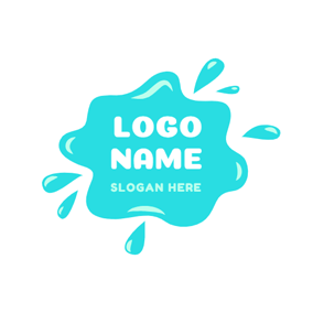 Flowing Green Slime logo design
