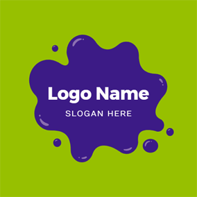 Flowing Violet Slime Shape logo design
