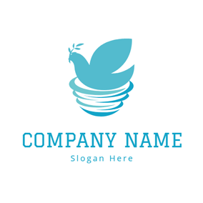Fly Bird and Bird Nest logo design