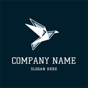 Fly Paper Bird Icon logo design